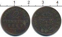 Изображение Монеты Пруссия 2 пфеннига 1867 Медь