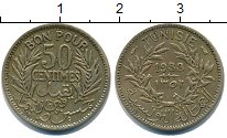 Изображение Монеты Тунис 50 сантимов 1938 Медь