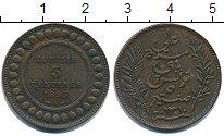 Изображение Монеты Тунис 5 сентим 1893 Медь
