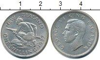 Изображение Монеты Новая Зеландия 1 шиллинг 1937 Серебро XF Георг VI