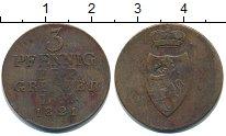 Изображение Монеты Рейсс-Оберграйц 3 пфеннига 1821 Медь VF