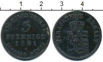 Изображение Монеты Анхальт 3 пфеннига 1861 Медь