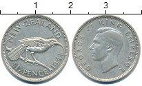 Изображение Монеты Новая Зеландия 6 пенсов 1941 Серебро XF Георг VI