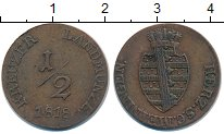 Изображение Монеты Саксен-Майнинген 1/2 крейцера 1818 Медь VF