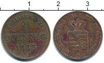 Изображение Монеты Саксен-Майнинген 1 пфенниг 1863 Медь XF