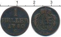 Изображение Монеты Саксония 1 геллер 1780 Медь VF