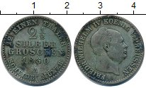 Изображение Монеты Пруссия 2 1/2 гроша 1860 Серебро VF А. Фридрих Вильгельм