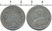 Изображение Монеты Ватикан 1 лира 1866 Серебро VF