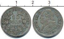 Изображение Монеты Ватикан 10 сольдо 1868 Серебро VF