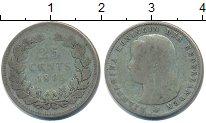 Изображение Монеты Нидерланды 25 центов 1895 Серебро  Вильгельмина.