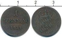 Изображение Монеты Бавария 1 пфенниг 1835 Медь VF
