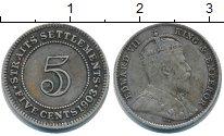 Изображение Монеты Стрейтс-Сеттльмент 5 центов 1903 Серебро