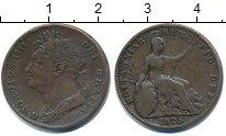 Изображение Монеты Великобритания 1 фартинг 1825 Медь  Георг IV