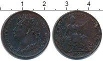 Изображение Монеты Великобритания 1 фартинг 1821 Медь  Георг IV