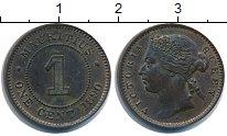 Изображение Монеты Маврикий 1 цент 1890 Медь XF Виктория.