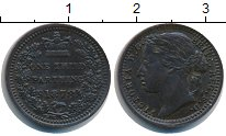 Изображение Монеты Великобритания 1/3 фартинга 1878 Медь XF Виктория.