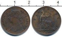 Изображение Монеты Великобритания 1 фартинг 1887 Медь XF Виктория.