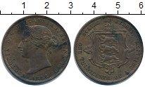 Изображение Монеты Остров Джерси 1/13 шиллинга 1866 Медь XF