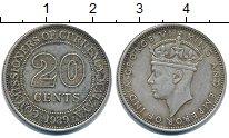 Изображение Монеты Малайя 20 центов 1939 Серебро XF Георг VI.