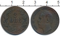 Изображение Монеты Швеция 2 эре 1872 Медь VF Карл XV
