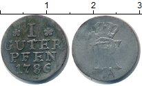 Изображение Монеты Пруссия 1 пфенниг 1786 Серебро VF
