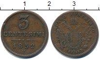 Изображение Монеты Италия 3 сентесими 1852 Медь VF