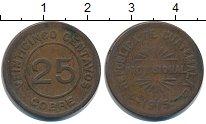 Изображение Монеты Гватемала 25 сентаво 1915 Медь VF Временная монета