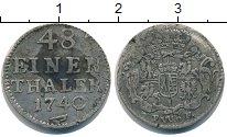Изображение Монеты Саксония 1/48 талера 1740 Серебро