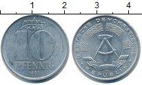 Изображение Монеты ГДР 10 пфеннигов 1983 Алюминий XF