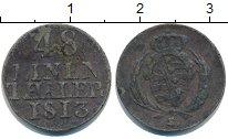 Изображение Монеты Саксония 1/48 талера 1813