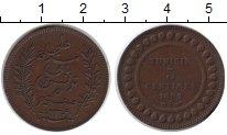 Изображение Монеты Тунис 5 сантимов 1892 Медь XF Французский протекто