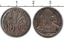 Изображение Монеты Индокитай 10 центов 1941 Медно-никель