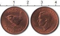 Изображение Монеты Великобритания 1 фартинг 1946 Медь XF