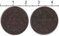 Изображение Монеты Нассау 1 крейцер 1859 Медь VF