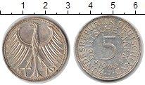 Изображение Монеты ФРГ 5 марок 1966 Серебро VF