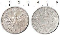 Изображение Монеты ФРГ 5 марок 1966 Серебро XF