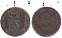 Изображение Монеты Саксен-Майнинген 2 пфеннига 1869 Медь XF