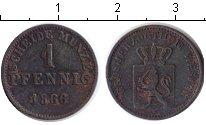 Изображение Монеты Гессен 1 пфенниг 1866 Медь