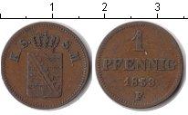 Изображение Монеты Саксен-Майнинген 1 пфенниг 1853 Медь