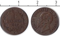 Изображение Мелочь Италия 1 сентесимо 1867 Медь XF