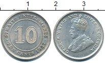 Изображение Монеты Стрейтс-Сеттльмент 10 центов 1927 Серебро UNC-