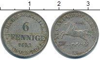 Изображение Монеты Ганновер 6 пфеннигов 1853 Серебро XF