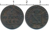 Изображение Монеты Саксен-Веймар-Эйзенах 1 пфенниг 1844 Медь VF