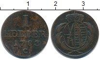 Изображение Монеты Саксония 1 геллер 1783 Медь VF