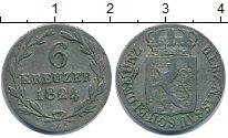 Изображение Монеты Нассау 6 крейцеров 1824 Серебро