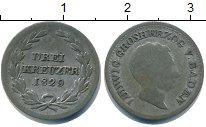Изображение Монеты Баден 3 крейцера 1829 Серебро  Людвиг.