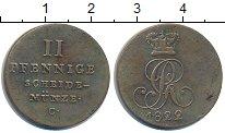 Изображение Монеты Ганновер 2 пфеннига 1822 Медь VF С