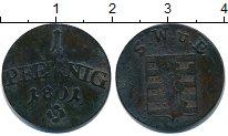 Изображение Монеты Саксен-Веймар-Эйзенах 1 пфенниг 1801 Медь