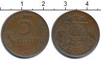 Изображение Монеты Латвия 5 сантим 1922 Медь XF