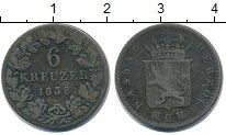Изображение Монеты Нассау 6 крейцеров 1838 Серебро VF